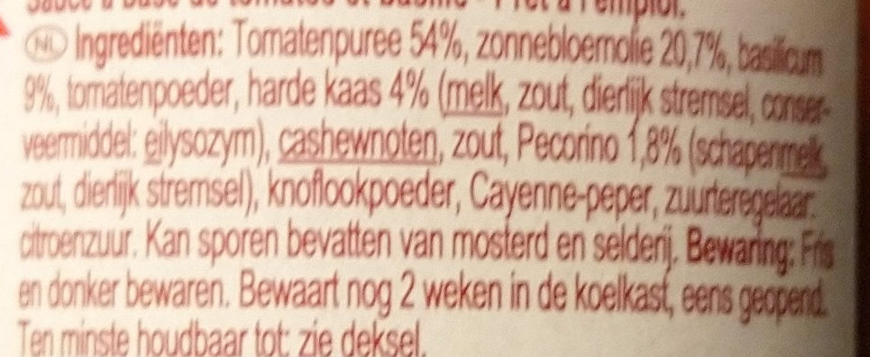 Pesto rosso - Ingrediënten - nl