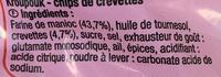 Chips De Crevettes Carrefour 70 G - Ingredients