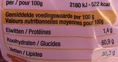 Chips De Crevettes Carrefour 70 G - Nutrition facts