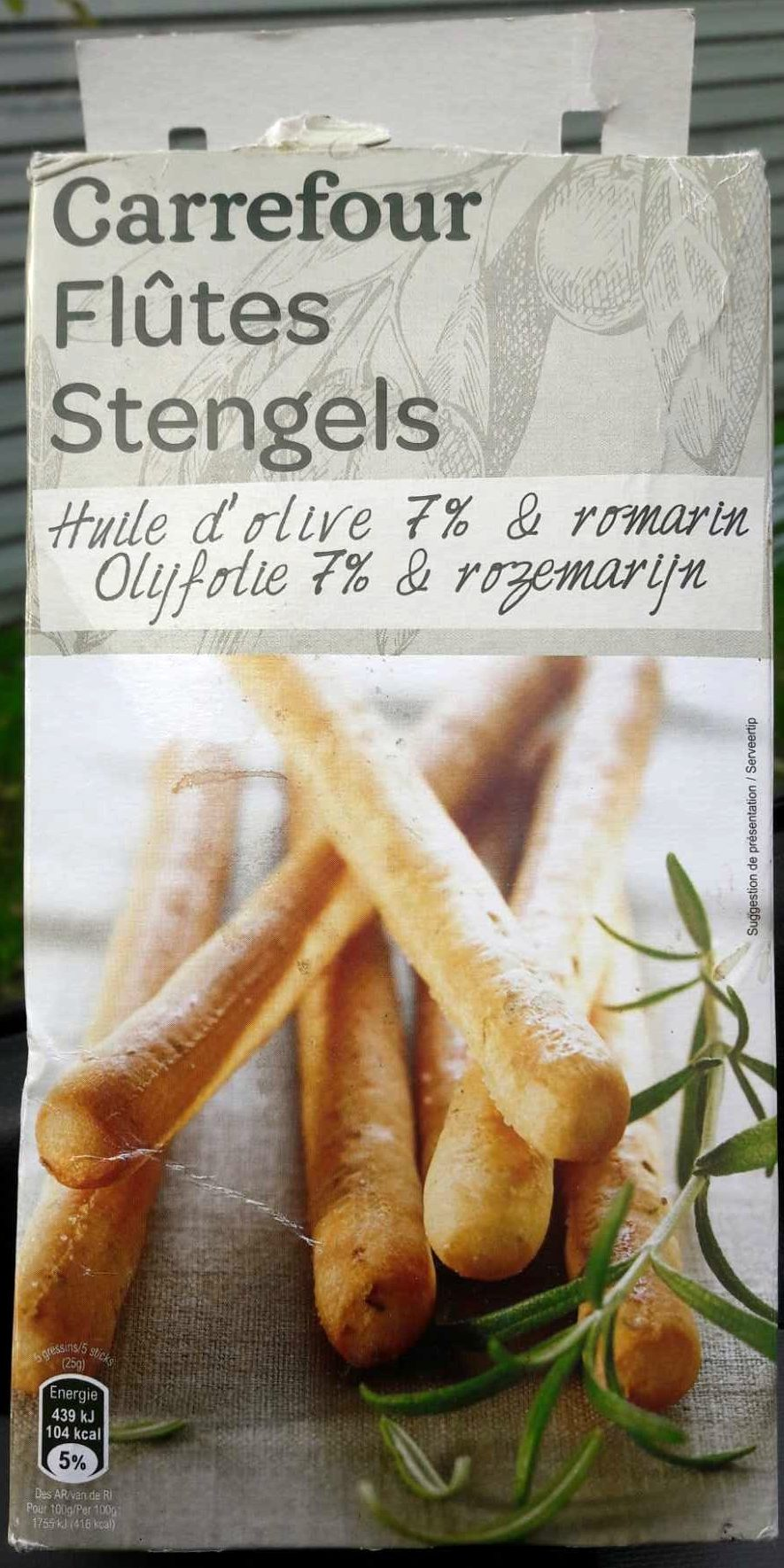 Flûtes Huile d'olive 7% & romarin - Product - fr