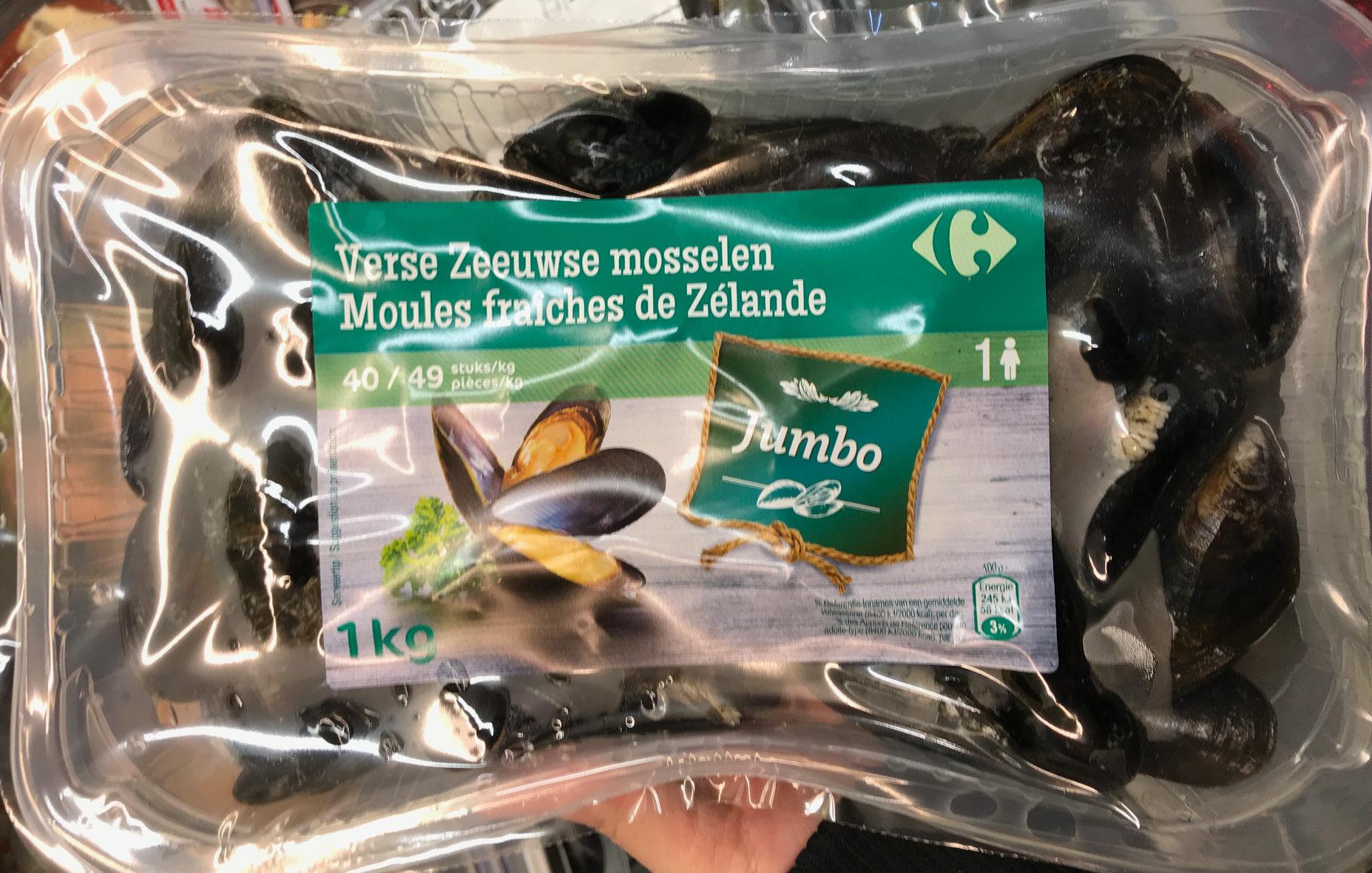 Moules fraîches de Zélande Jumbo - Produit