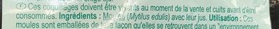 Moules fraîches de Zélande Jumbo - Ingrédients