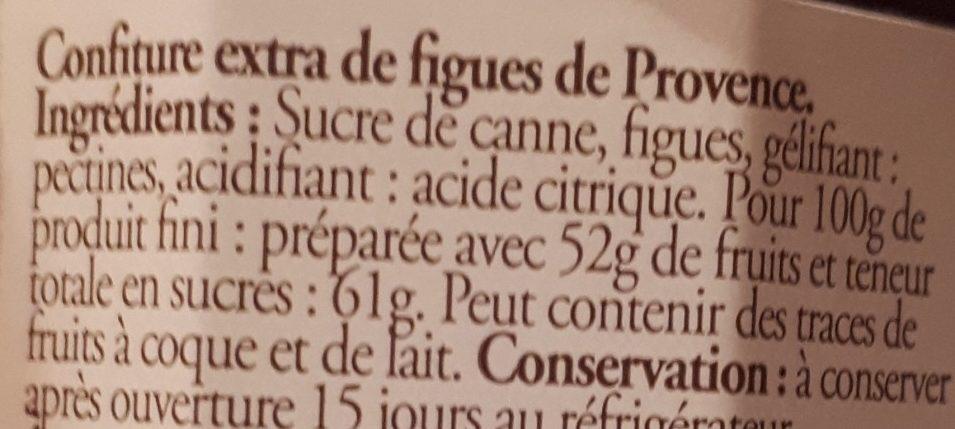 Confiture de figues de Provence - Ingrediënten