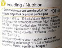 Crème de champignons - Informations nutritionnelles - fr