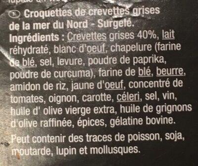 Croquettes de crevettes - Ingrediënten - fr