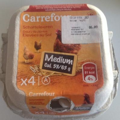 4 œufs de poules élevées au sol Medium - Product