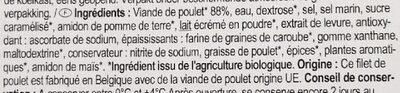 Filet de poulet - Ingredients - fr