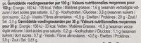 Filet de poulet - Nutrition facts - fr