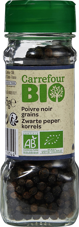 Poivre noir en grains bio - Produit - fr