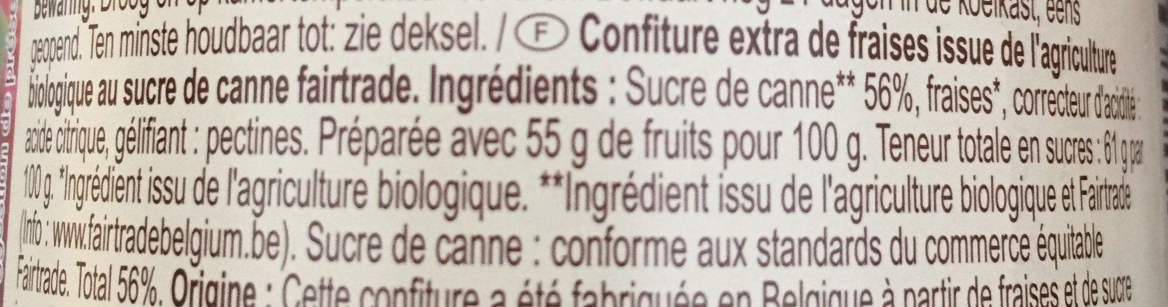 Confiture - Ingrediënten - fr