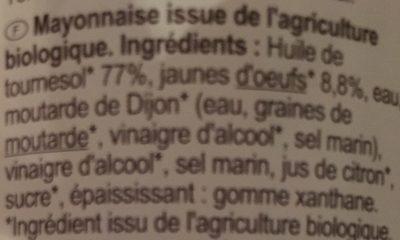 Mayonnaise Bio - Ingrediënten - fr