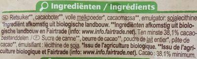 Chocolat au lait - Ingrediënten