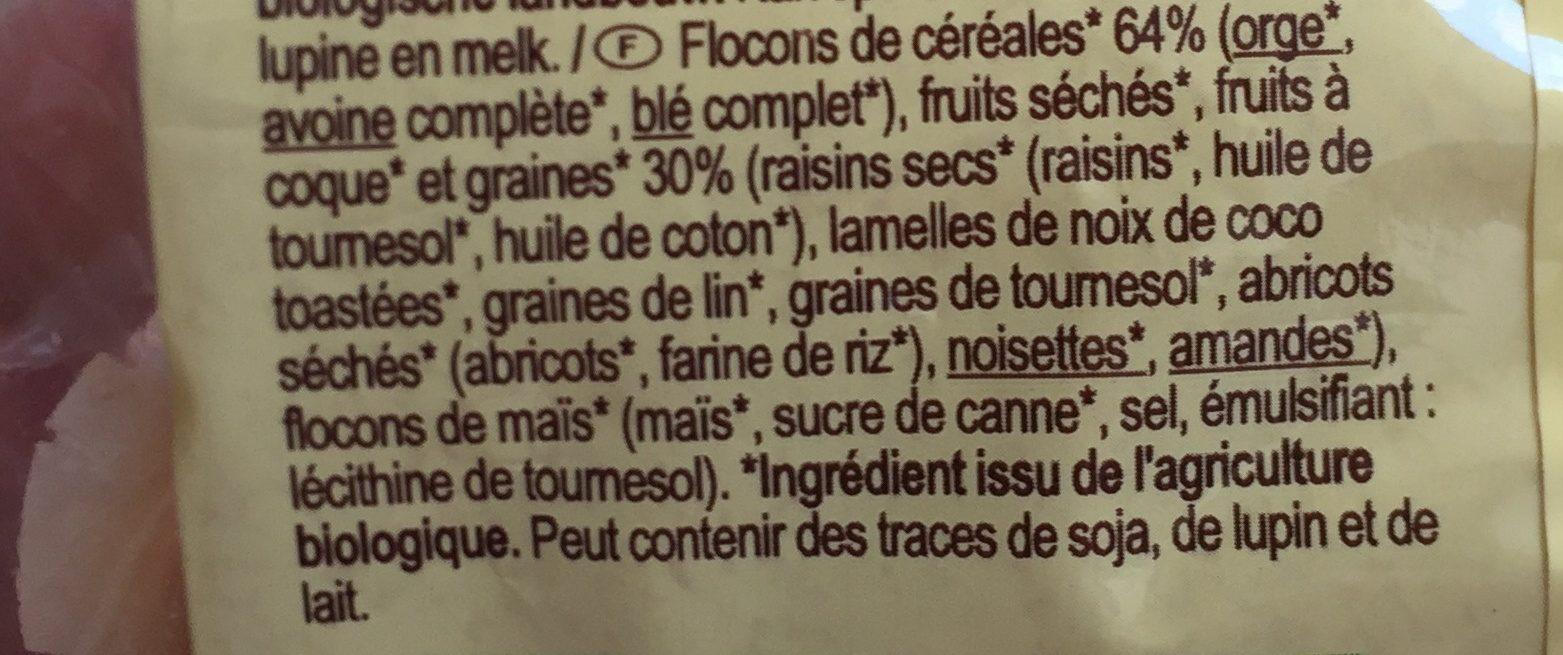 Muesli avec 30% de fruits,noix & graines - Ingrediënten