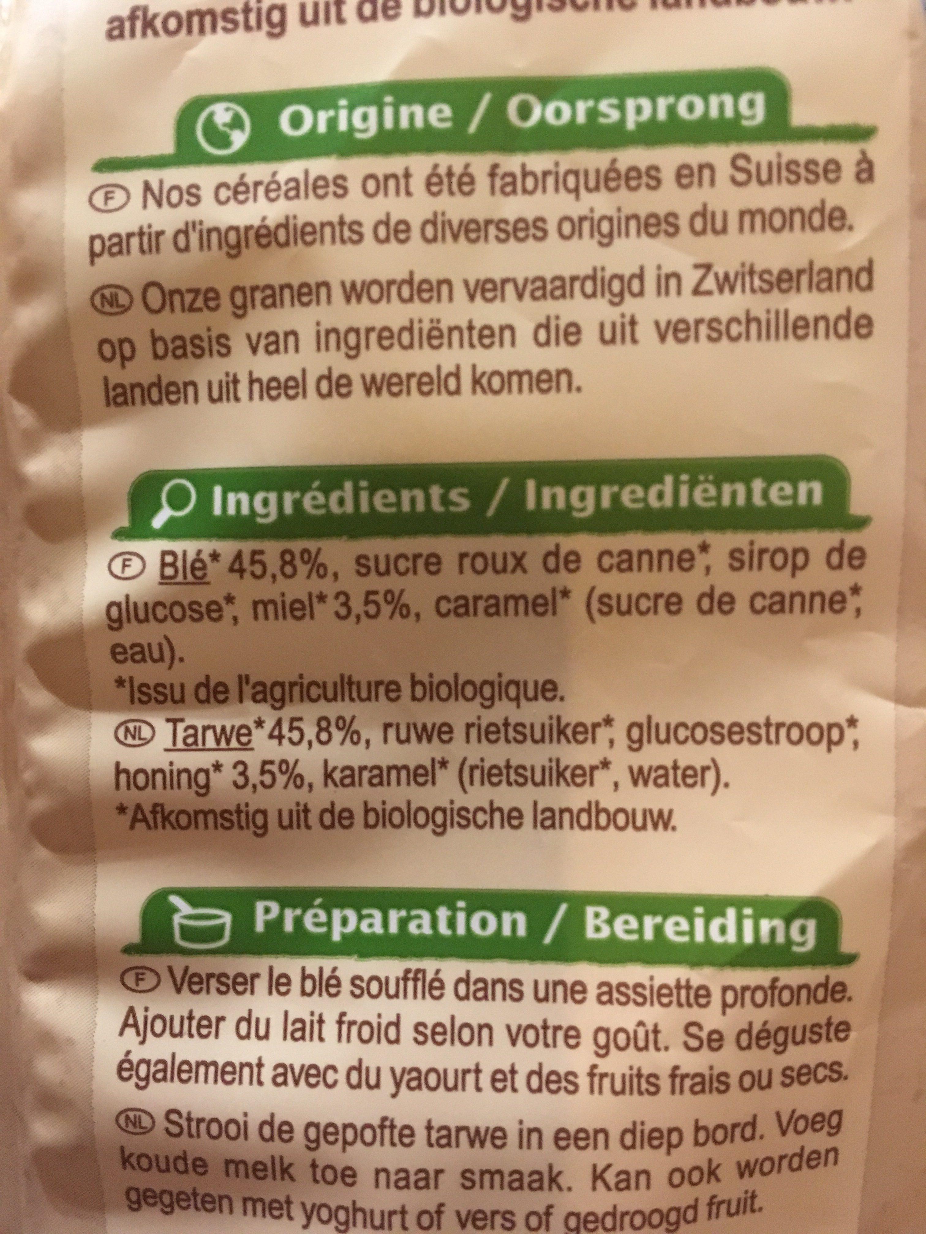 Blé soufflé au miel - Ingrédients - fr