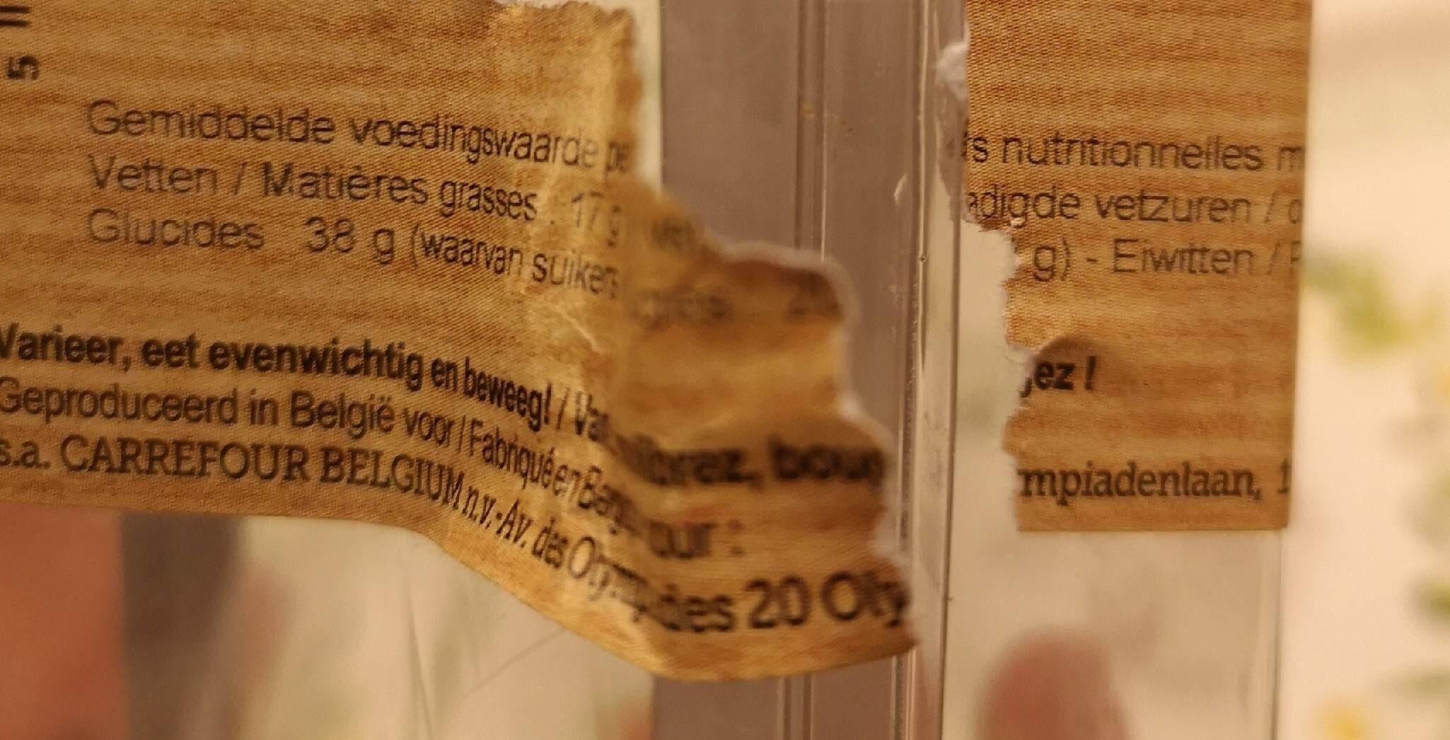 Cake Jonagold - Informations nutritionnelles - fr