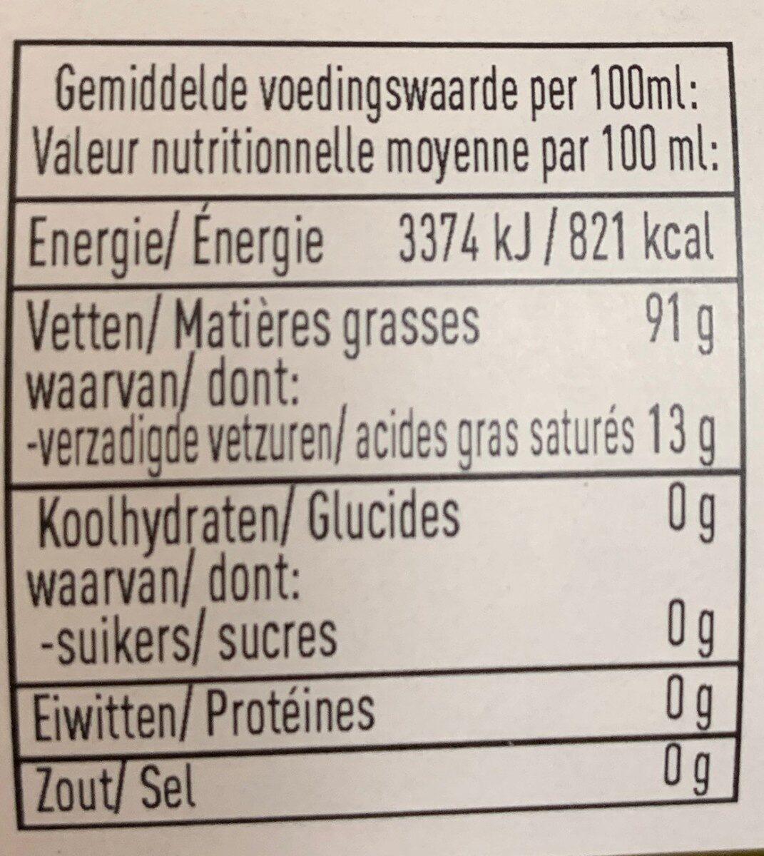 Huile d'olive extra vierge - Voedingswaarden