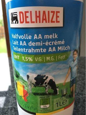 Lait AA Demi-écrémé - Produit