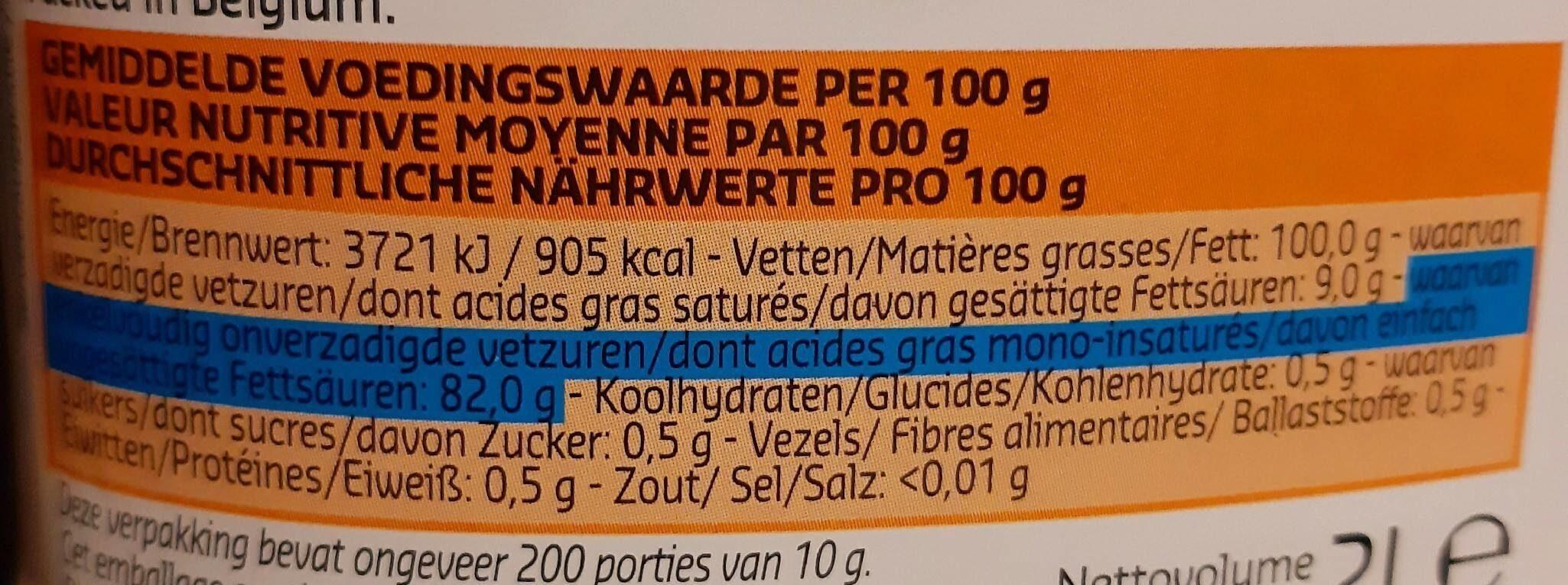 Huile de tournesol - friture - Voedingswaarden - fr