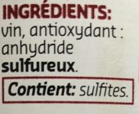 Vinaigre de vin rouge - Ingrediënten - fr