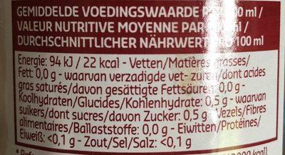 Vinaigre de vin rouge - Voedingswaarden - fr