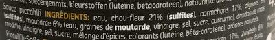 Pickles - Ingrediënten - fr