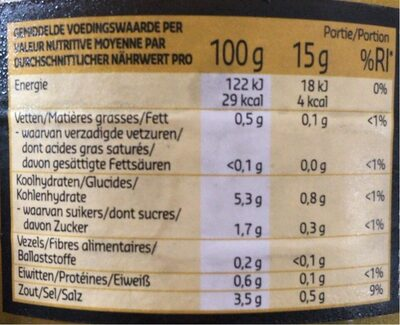 Pickles - Voedingswaarden - fr