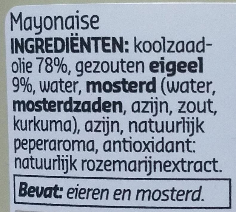 Ambachtelijke mayonaise - Ingredients - nl