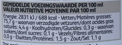 Ambachtelijke mayonaise - Nutrition facts - nl