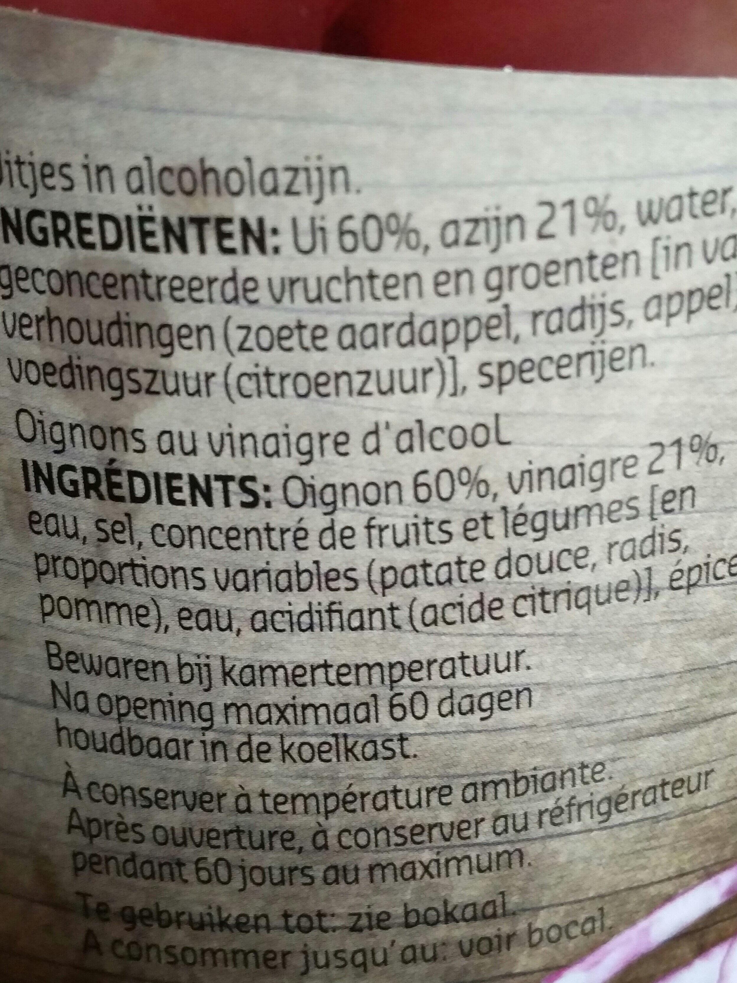 Oignons rouges - Ingrediënten - fr