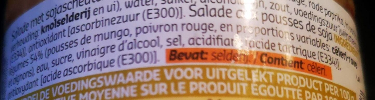 Salade chinoise - Ingrédients - fr