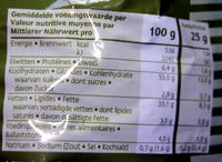 Ribbled chips poivre et sel - Nutrition facts
