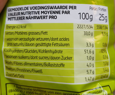 Ribble Chips Pickles - Informations nutritionnelles - fr
