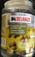 Olives verted dénoyautées - Product