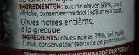 Olives noires entières - Ingrediënten - fr