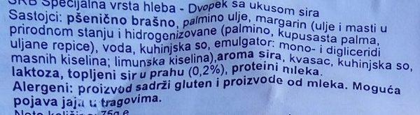 Croutons sir - Ingrediënten
