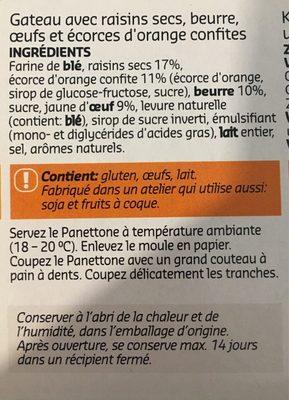 Panettone - Ingrédients - fr