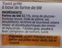 Mini toast - Ingredients - fr