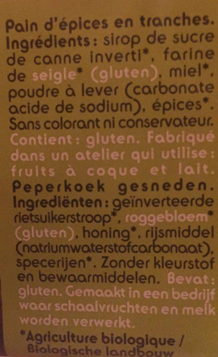 Pain d Epice - Ingrediënten