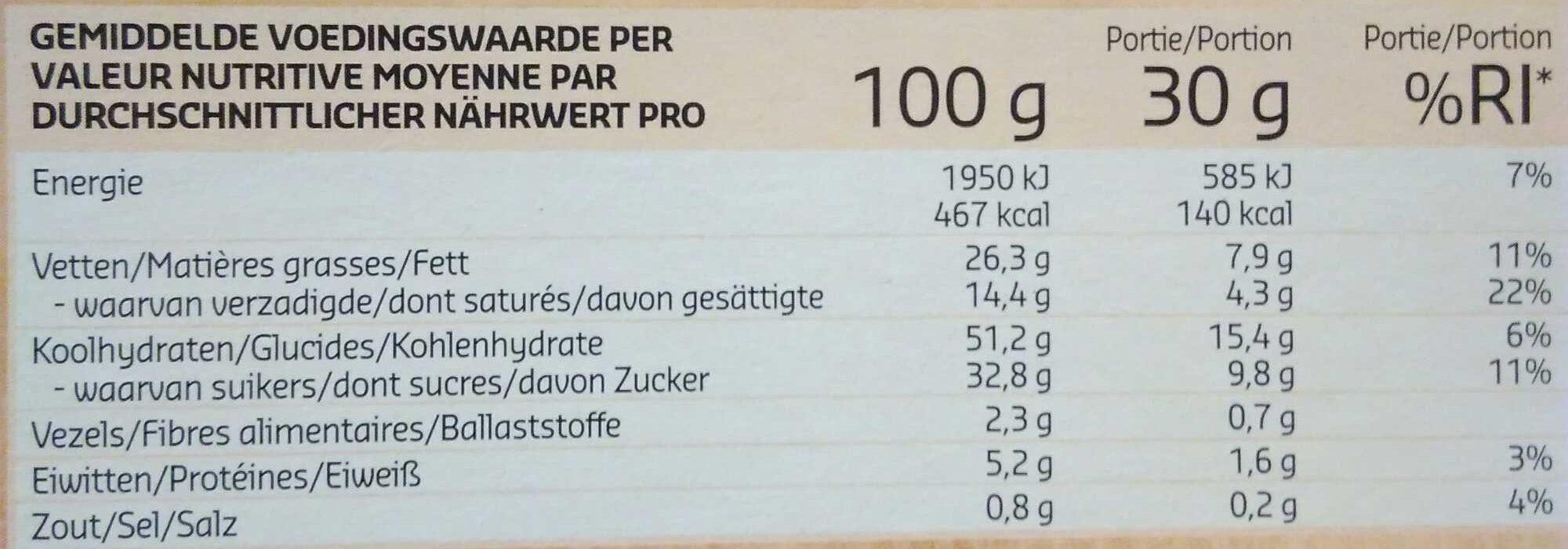 Brownies - Voedingswaarden - fr