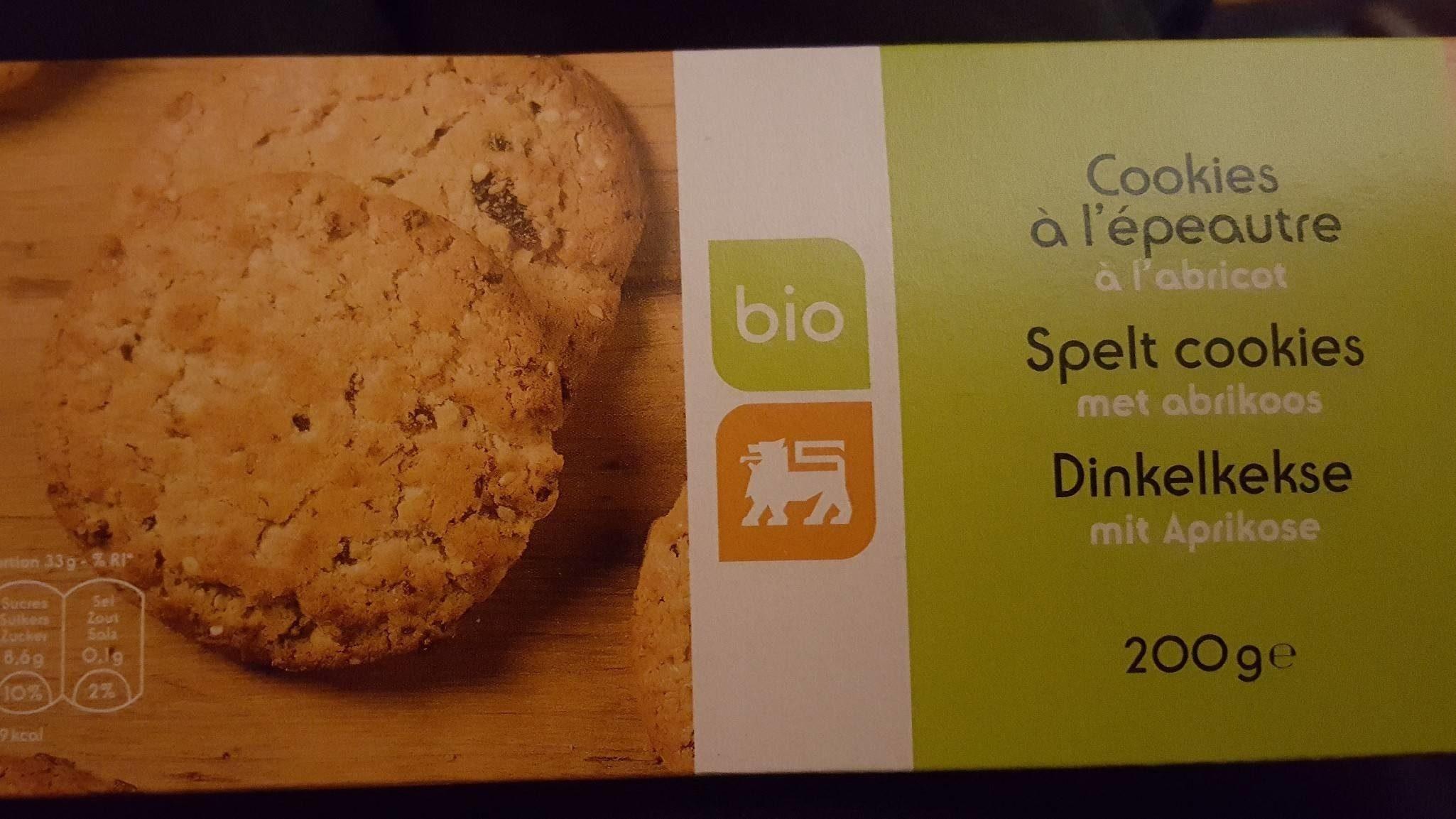 Cookies à l'épeautre à l'abricot bio - Product - fr