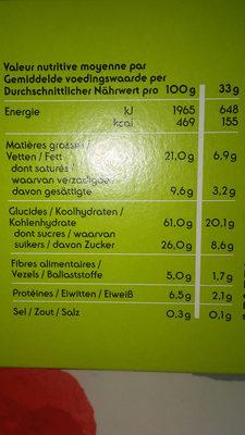 Cookies à l'épeautre à l'abricot bio - Voedingswaarden - fr