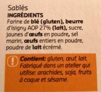 Sablés - Ingrediënten - fr