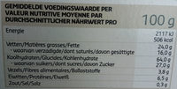 Sablés - Voedingswaarden - fr