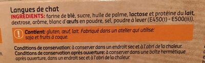 Langues de chat - Ingrediënten