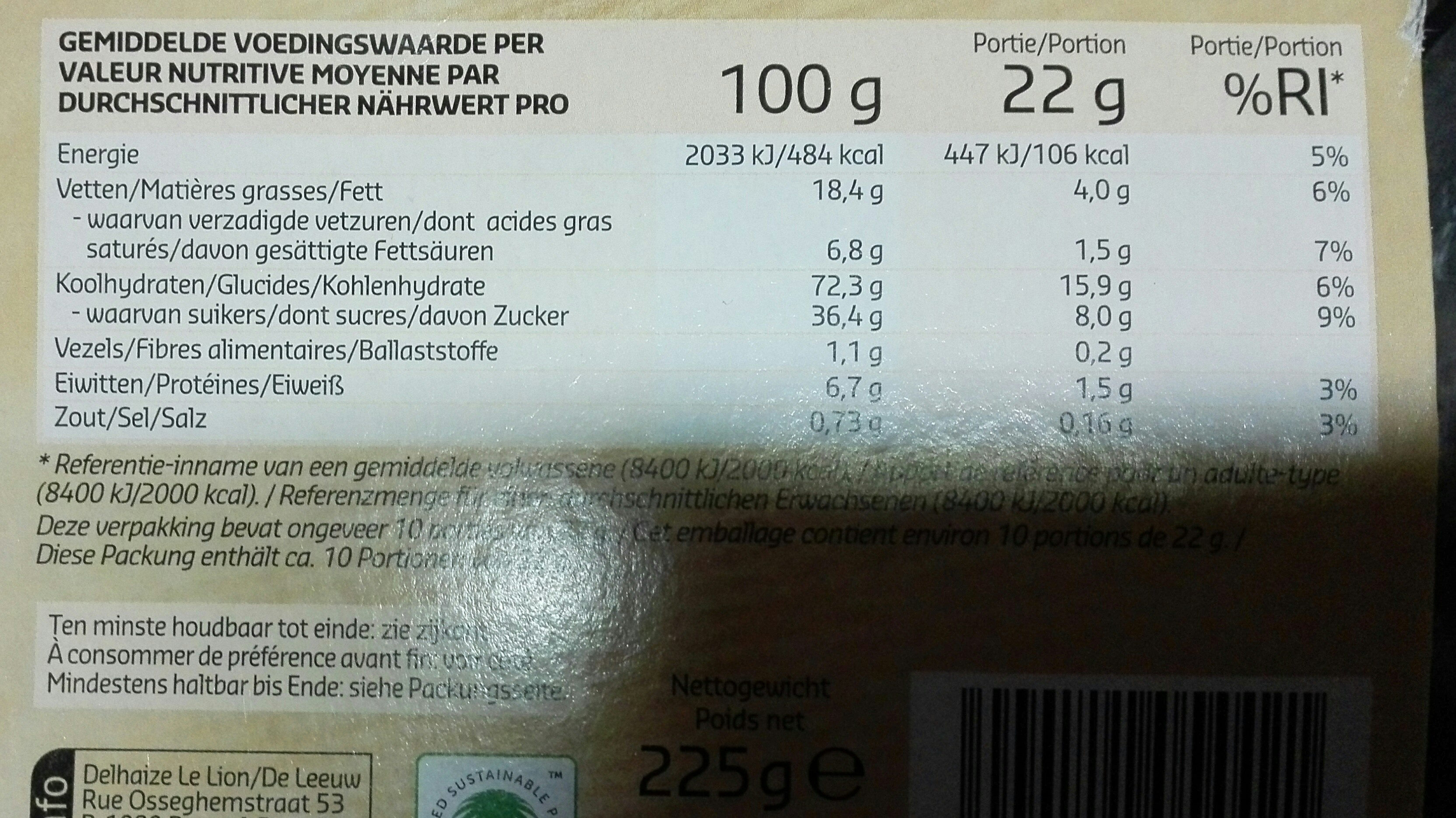 Speculoos traditionnel - Ingrediënten - nl