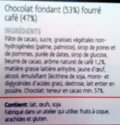 Chocolat Espresso - Ingrediënten