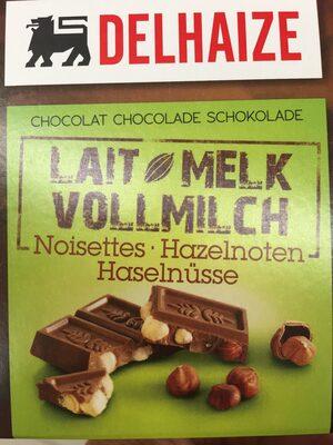 Chocolat lait noisettes - Product - fr