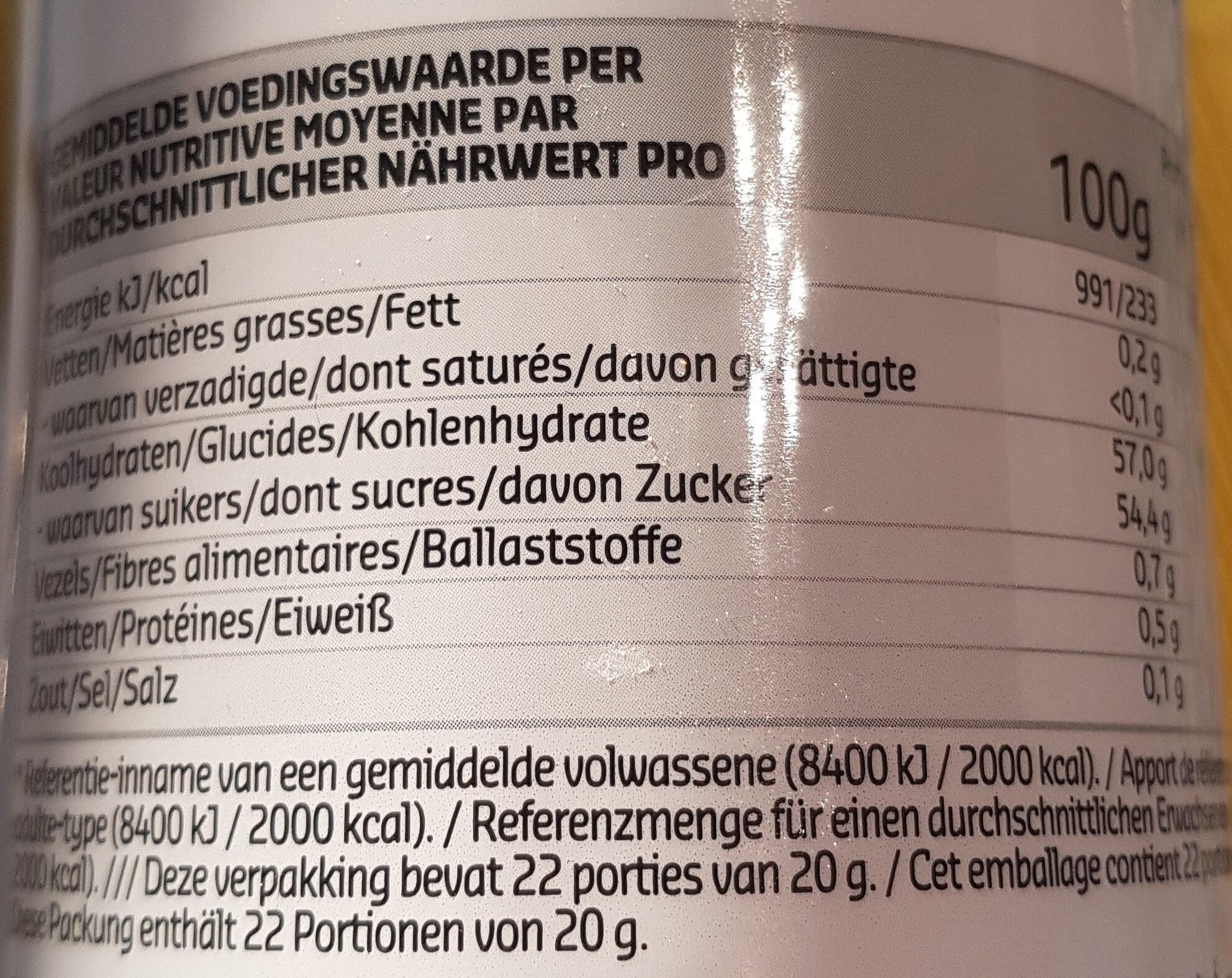Confiture Cerises Noires 450g - Voedingswaarden - fr