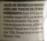 Gelée groseilles - Ingrediënten - fr
