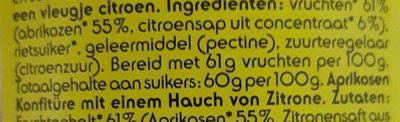 Confiture d'abricot - Ingrediënten